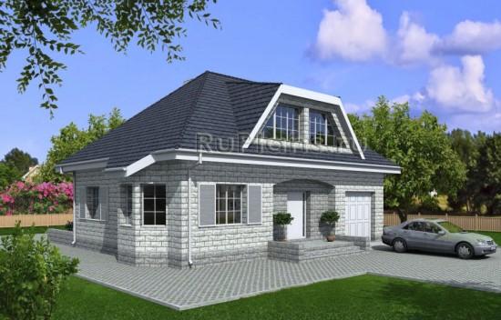 Проект уютного дома из теплоблока Rg3945