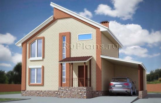 Проект двухэтажного комфортного коттеджа Rg4746