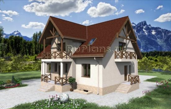 Проект дома из керамзитобетона Rg3922