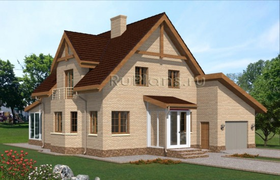 Проект одноэтажного дома с мансардой Rg4813