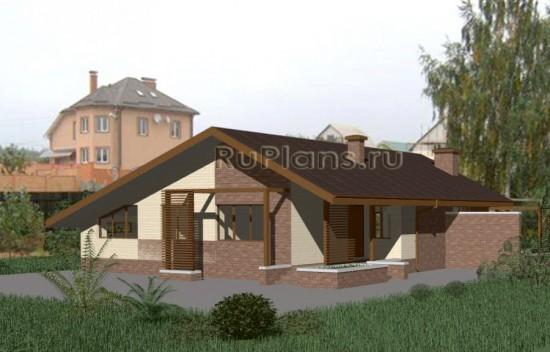 Проект компактного одноэтажного дома Rg3338