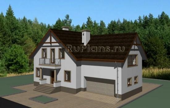 Проект одноэтажного дома с мансардой Rg3676