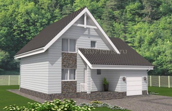Просторный одноэтажный дом с мансардой. Rg4986
