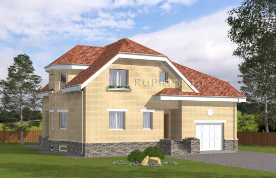 Проект просторного одноэтажного дома с мансардой Rg5013
