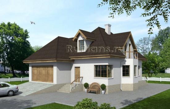 Проект дома с подвалом и мансардой Rg3907