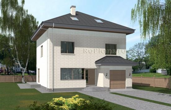 Проект вместительного двухэтажного дома с мансардой и подвалом Rg5057