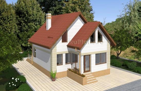 Одноэтажный дом с мансардой и подвалом Rg4905