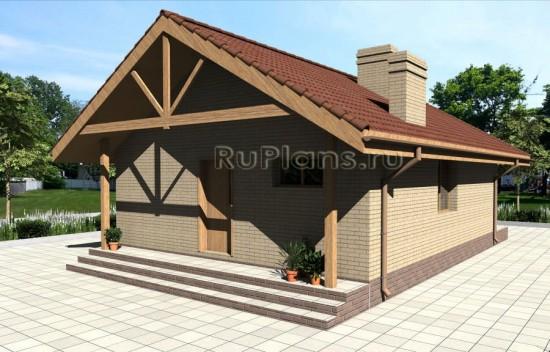 Эскиз гостевого дома Rg3940