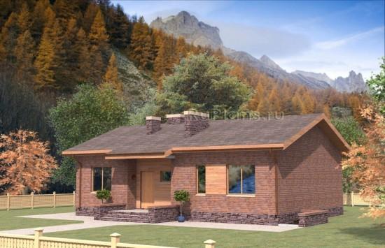 Проект индивидуального  двухэтажного  жилого дома Rg4736