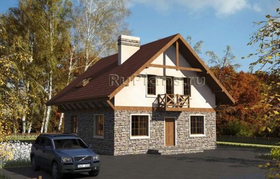 Проект удобного дома с мансардой Rg3811