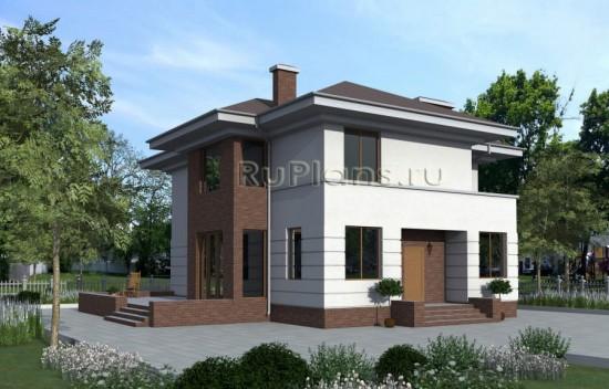 Проект двухэтажного жилого дома с террасой Rg1590