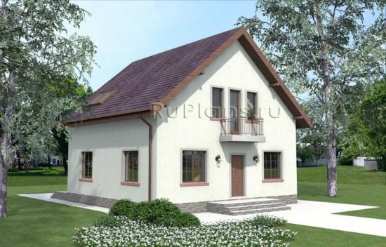 Проект комфортного дома с мансардой Rg3913
