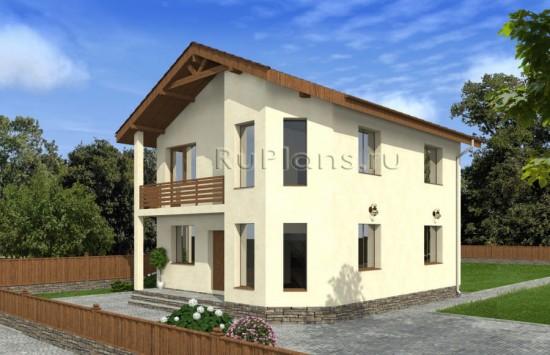 Проект двухэтажного дома с эркером Rg4824