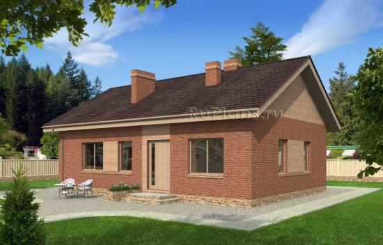 Проект индивидуального одноэтажного жилого дома Rg4794