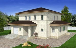 Проект дома с гаражом Rg4972