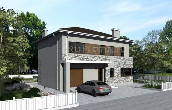 Проект двухэтажного жилого дома с гаражом «Б» Rg4790