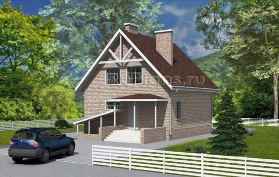 Проект дома в строгом стиле с подвалом Rg4735