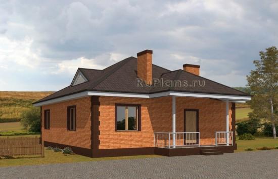 Проект уютного одноэтажного дома. Rg5052