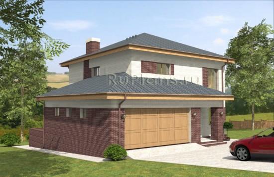 Проект двухэтажного дома и подвалом. Rg4811