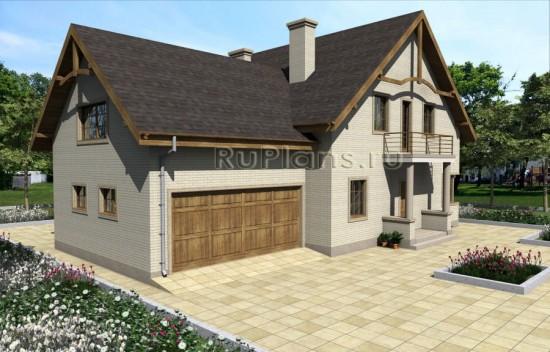 Проект одноэтажного дома с мансардой и гаражом Rg3974