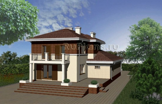Двухэтажный дом из керамзитобетона Rg3447