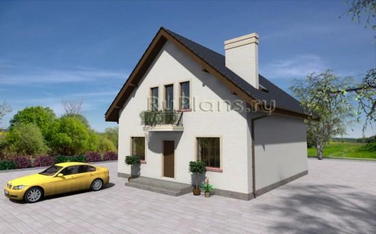 Аккуратный дом с мансардой Rg3888
