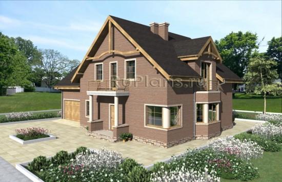Проект одноэтажного дома с мансардой Rg4849