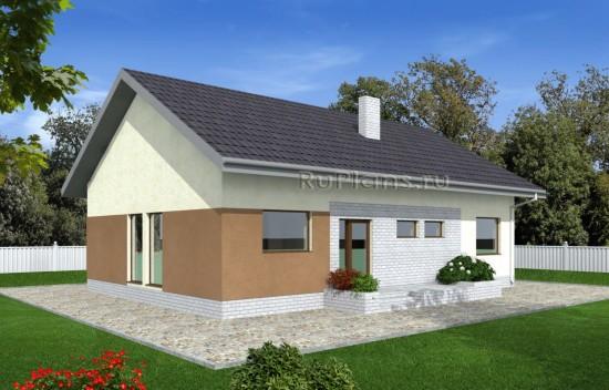 Проект небольшого одноэтажного дома Rg4891