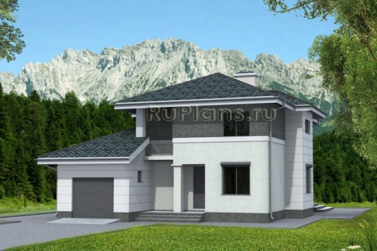 Проект двухэтажного дома с эркером Rg4754