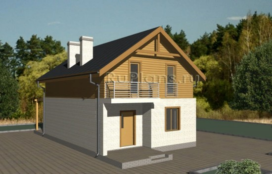 Живописный дом с мансардой Rg3580