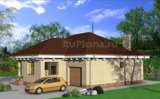 Проект одноэтажного дома с эркером Rg3904