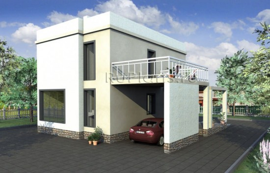 Проект удобного 2-х этажного дома Rg3229
