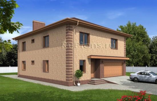 Проект дома с цокольным этажом и гаражом Rg4823