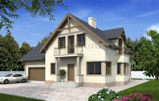 Проект одноэтажного дома с подвалом и мансардой Rg4844
