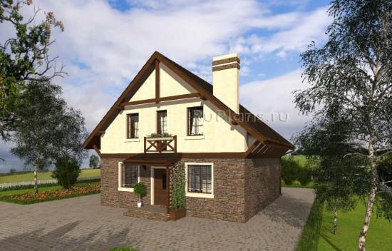 Проект уютного дома с мансардой в немецком стиле Rg5007