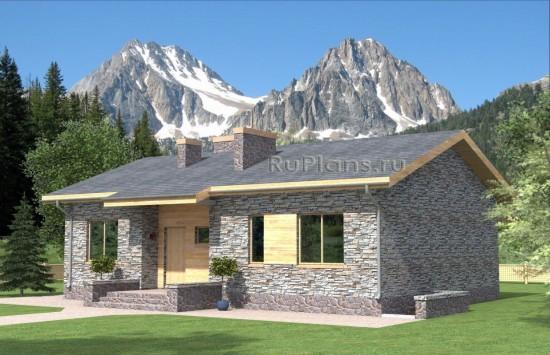 Проект индивидуального  двухэтажного  жилого дома Rg4737