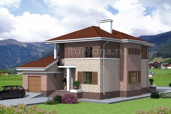 Двухэтажный дом из керамзитобетона Rg4757