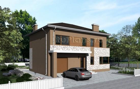 Проект двухэтажного жилого дома с гаражом «А» Rg4789