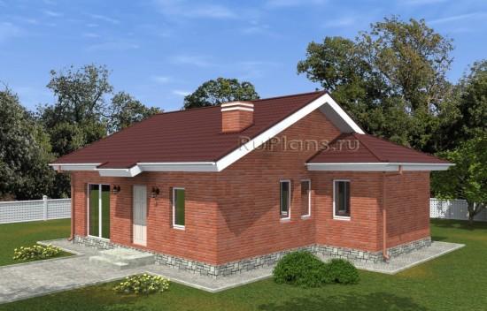 Проект компактного одноэтажного дома Rg5014