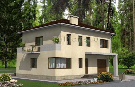 Проект двухэтажного дома с гаражом Rg4845