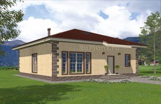 Проект лаконичного одноэтажного дома с мансардой Rg5009