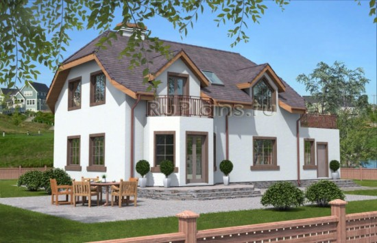 Проект одноэтажного жилого дома с мансардой Rg1570