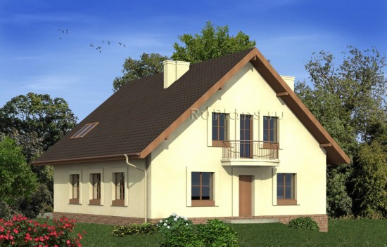 Проект европейского загородного дома Rg4917