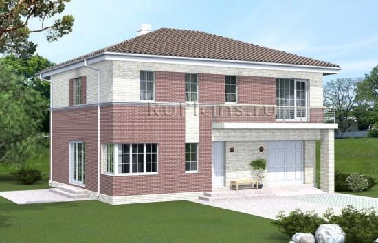 Проект одноэтажного коттеджа с мансардой Rg4839