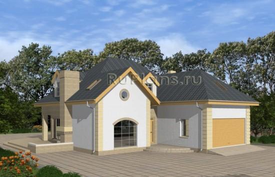 Одноэтажный дом с мансардой и гаражом Rg4870