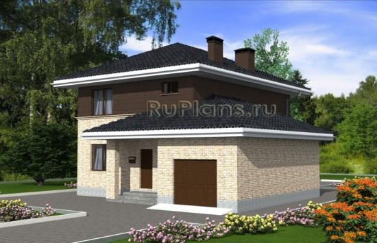 Проект двухэтажного дома с гаражом Rg4819