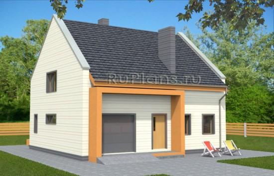 Проект удобного экономичного дома с мансардой Rg3562