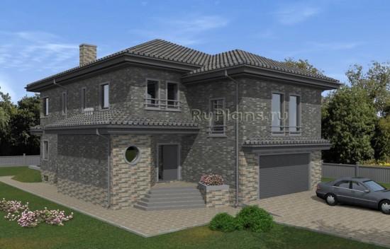 Проект просторного двухэтажного дома с подвалом, гаражом и бассейном Rg5047