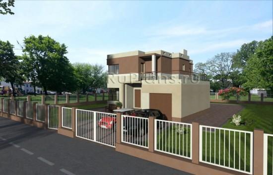 Проект двухэтажного дома в стиле минимализм Rg3794
