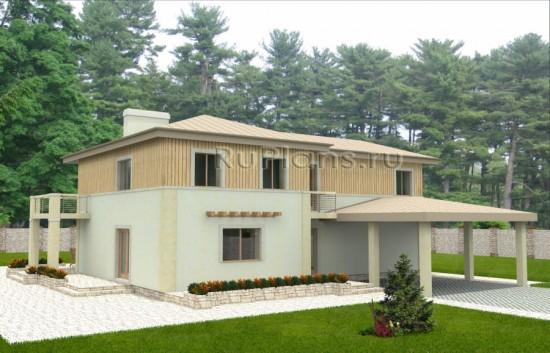 Двухэтажный уютный коттедж Rg3567